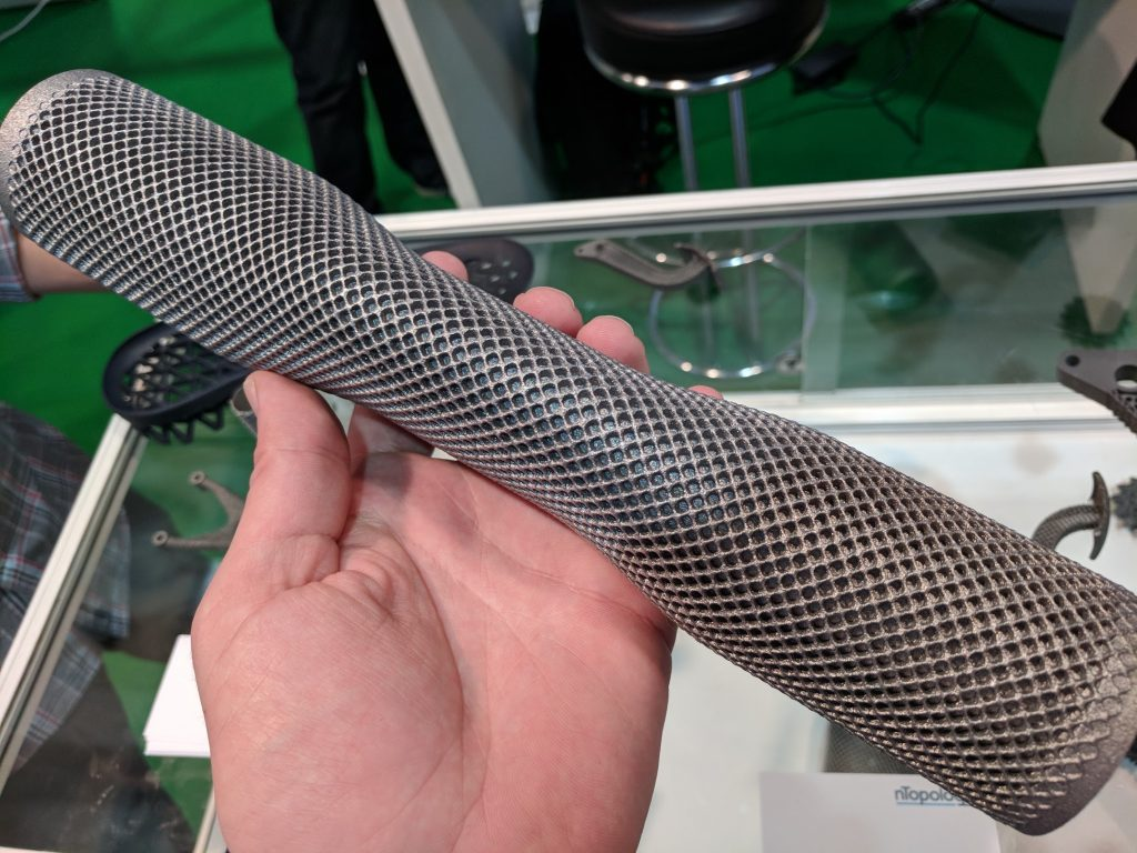 nTopology Element as used in this metal 3D print. Photo by Michael Petch.