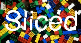 Sliced logo of a heap of Lego bricks. Original image via The Lego Group