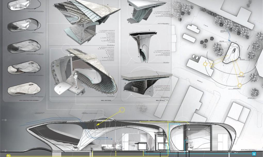 Concept segments of the Curve Appeal design. Image via WATG Urban