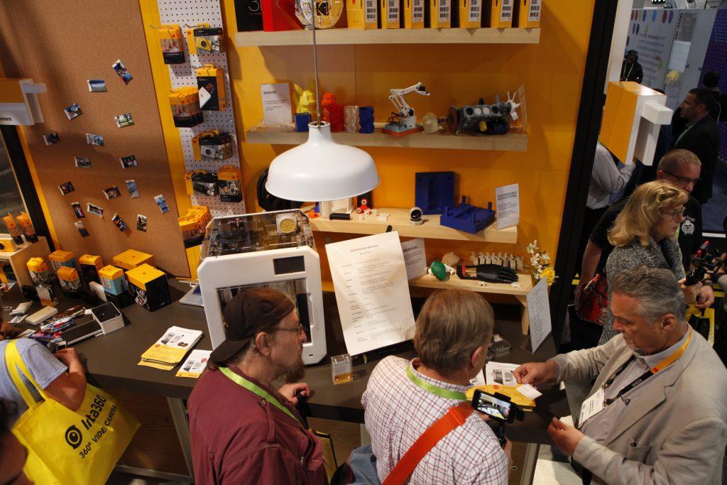Kodak 3D printing at CES 2018.