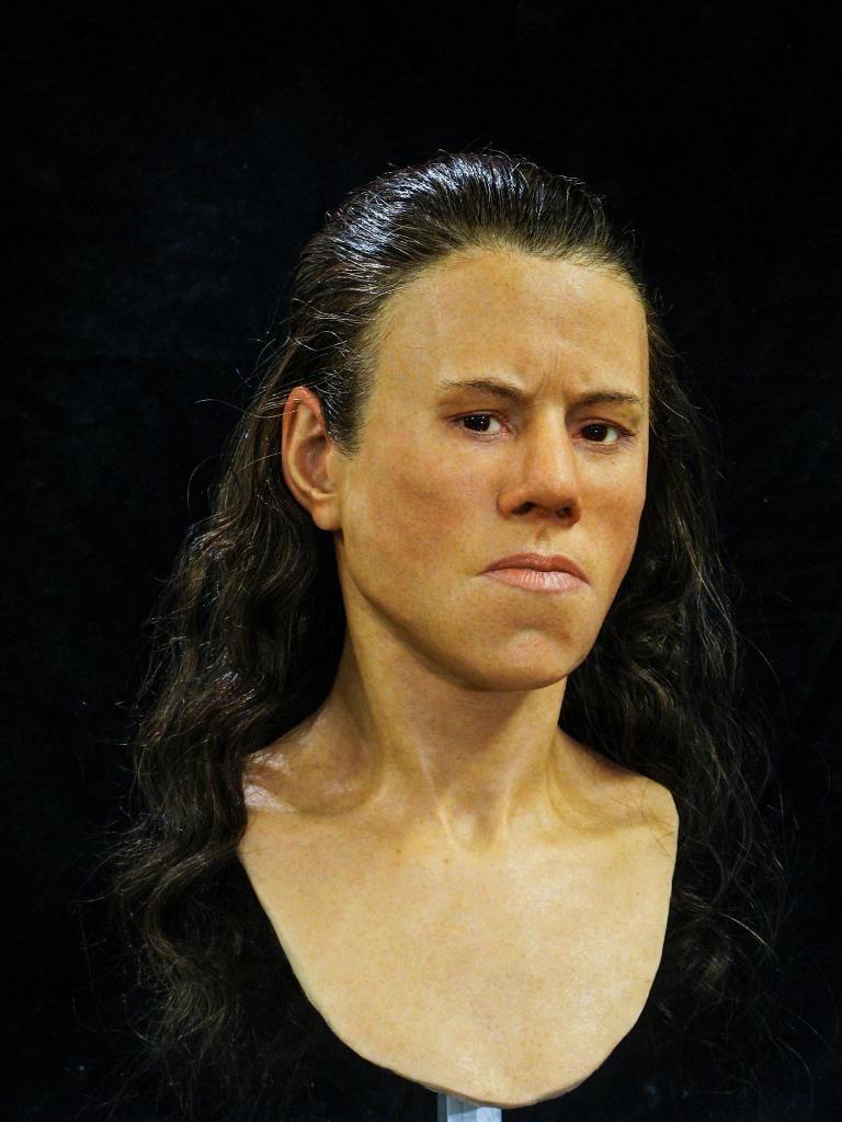 3D printed facial reconstruction of Avgi, found in a prehsitoric Greek Cave. Photo via Oscar NIlsson.