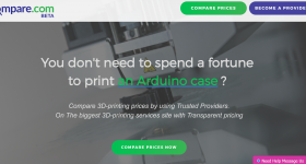 3DCompare is a 3D printing service comparison platform.