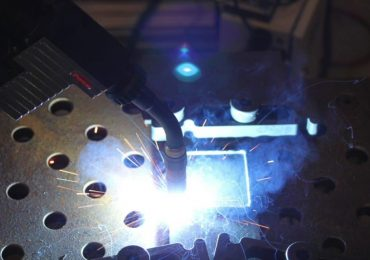 Test WAM 3D print at AML. Photo via AML Technologies