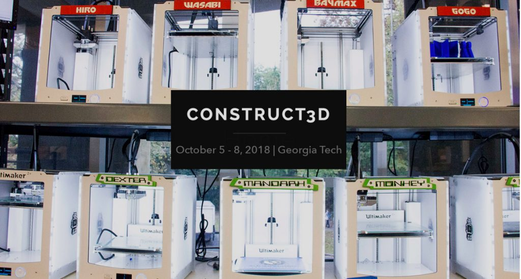 Construct 3D will be coming to Georgia Tech in October 2018. Image via Consrtuct 3D