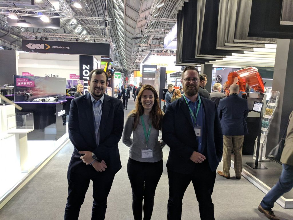 The 3D Printing Industry team at formnext 2017. Photo via Michael Petch