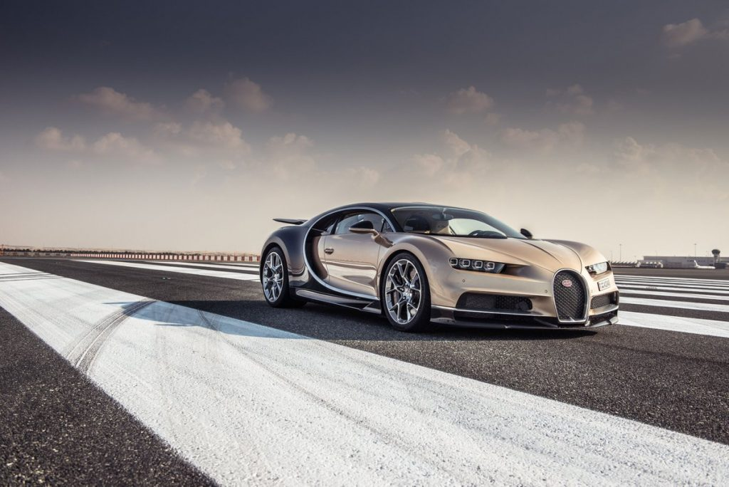 "In 2017, the latest generating Bugatti Chiron was awarded ""Hypercar of the Year"" by TopGear Magazine Awards. Photo via Bugatti Automobiles S.A.S."