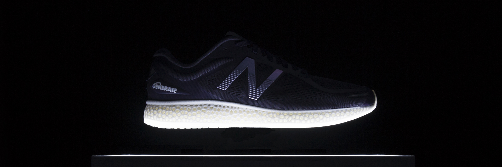 New Balance's Zante Generate is reportedly the world's first sneaker with a 3D printed midsole pipping both adidas and Reebok to the post. Photo via New Balance
