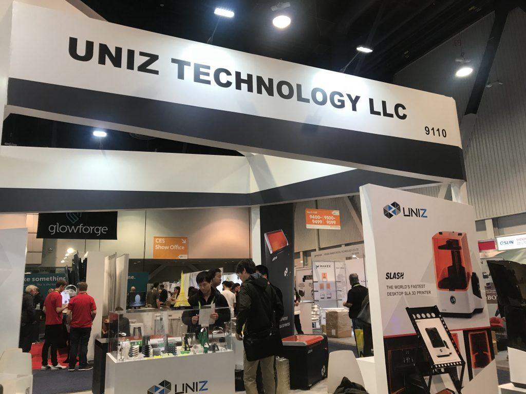 Uniz 3D printing at CES.