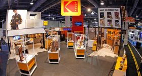 The Kodak CES 2018 booth. Photo via Kodak.