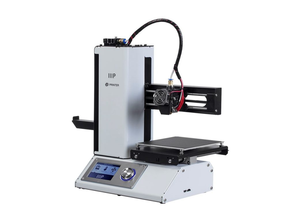 The Monoprice MP Select Mini V2 3D printer, the predecessor of the V3. Photo via Monoprice.