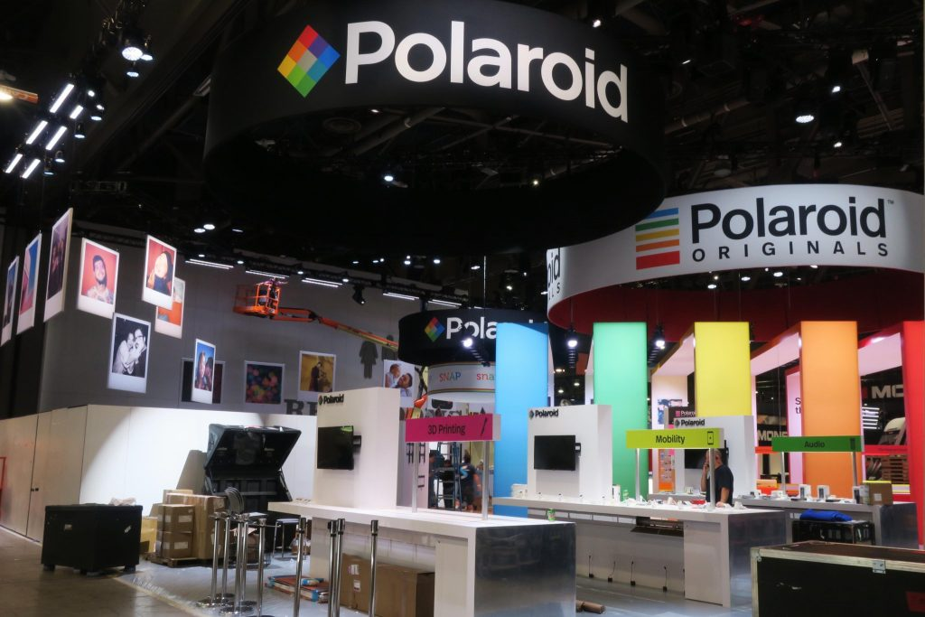 The Polaroid Booth at CES 2018 will be displaying the printers from 9-12 January. Photo via Polaroid.