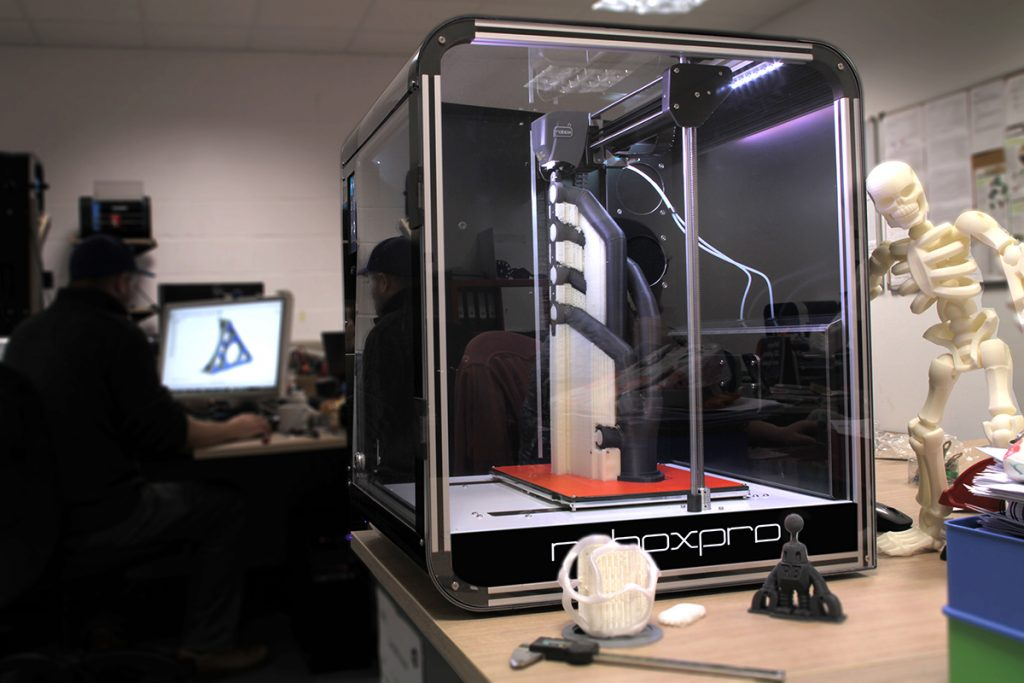 The RoboxPRO 3D printer on a desktop. Photo via CEL.