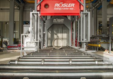 A Rösler Shotblasting machine for large metal components. The RapidFinish will be for smaller end use parts. Photo via Rösler.