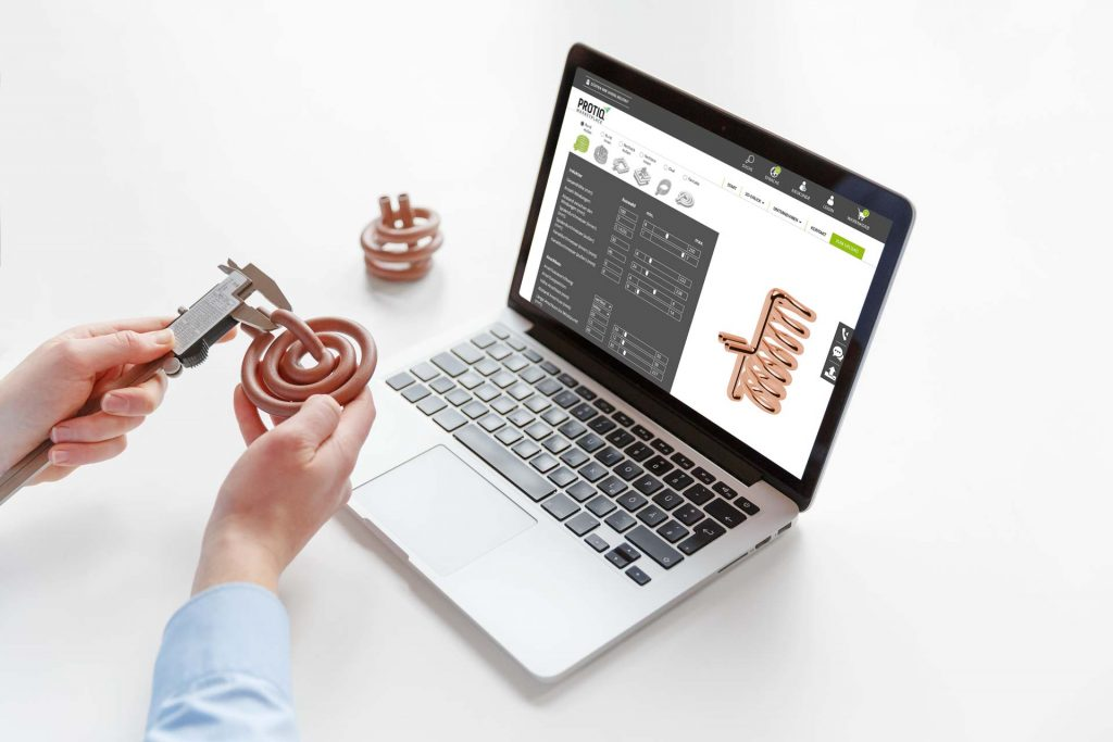 The trickle powered PROTIQ Marketplace for 3D printed copper inductors. Image via trinckle