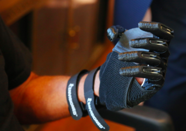 Piedra's prosthetic left hand. Photo via Tampa Bay Times.