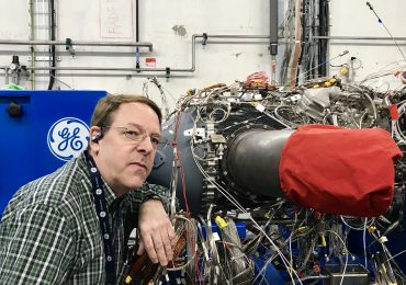 Featured image shows Stephen Erickson with the ATP engine.