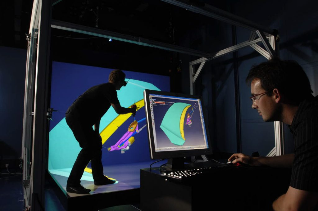 VR research also takes place at the CEA. Photo via D.Morel/CEA.