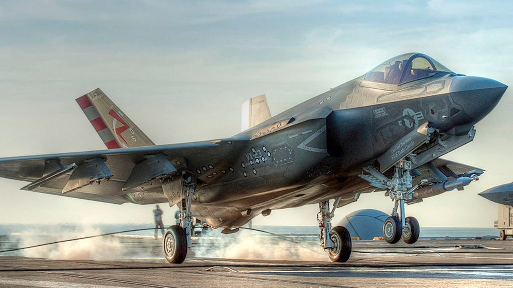The shiny new F-35C Lightning II aircraft carrier variant, to be introduced to the U.S. Air Force this year. Photo via Lockheed Martin
