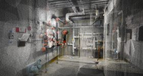 Inside a point-cloud generated mechanical room. Image via DotProduct