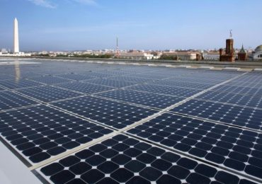 Rooftop solar panels in Washington, DC. Photo via US DOE.