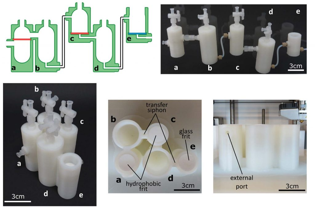 Sample 3D printed reactionware. Image via Science journal