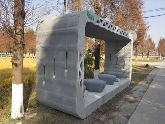 World 39 s first 3d printed bus shelter is first of many for planned community 3d printing industry - Shanghai winsun decoration engineering co ...