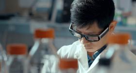 A scientist wearing Vuzix Blade glasses. Photo via Vuzix.