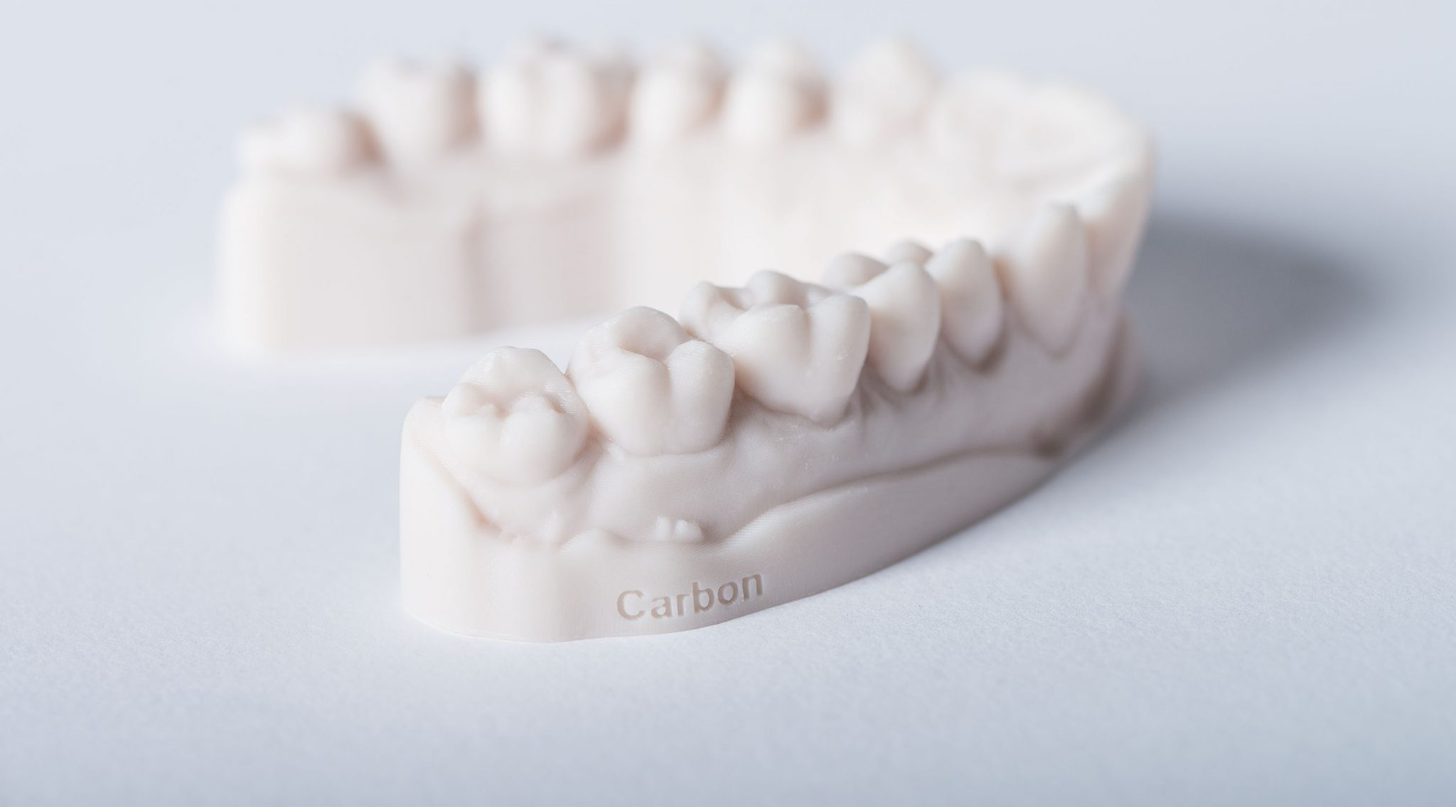 A 3D printed dental impression. Photo via Carbon