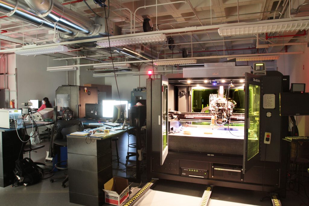 Electronics 3D printing system at the Keck Center. Photo via UTEP/Keck