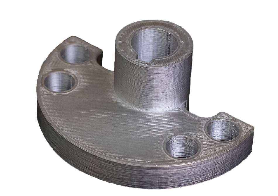 3D printed flange. Photo via Stanley Black & Decker.