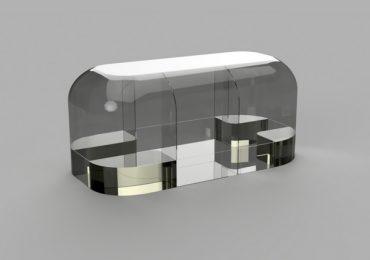 Digital plan of the Wave 3D printed camper. Image via Create Café