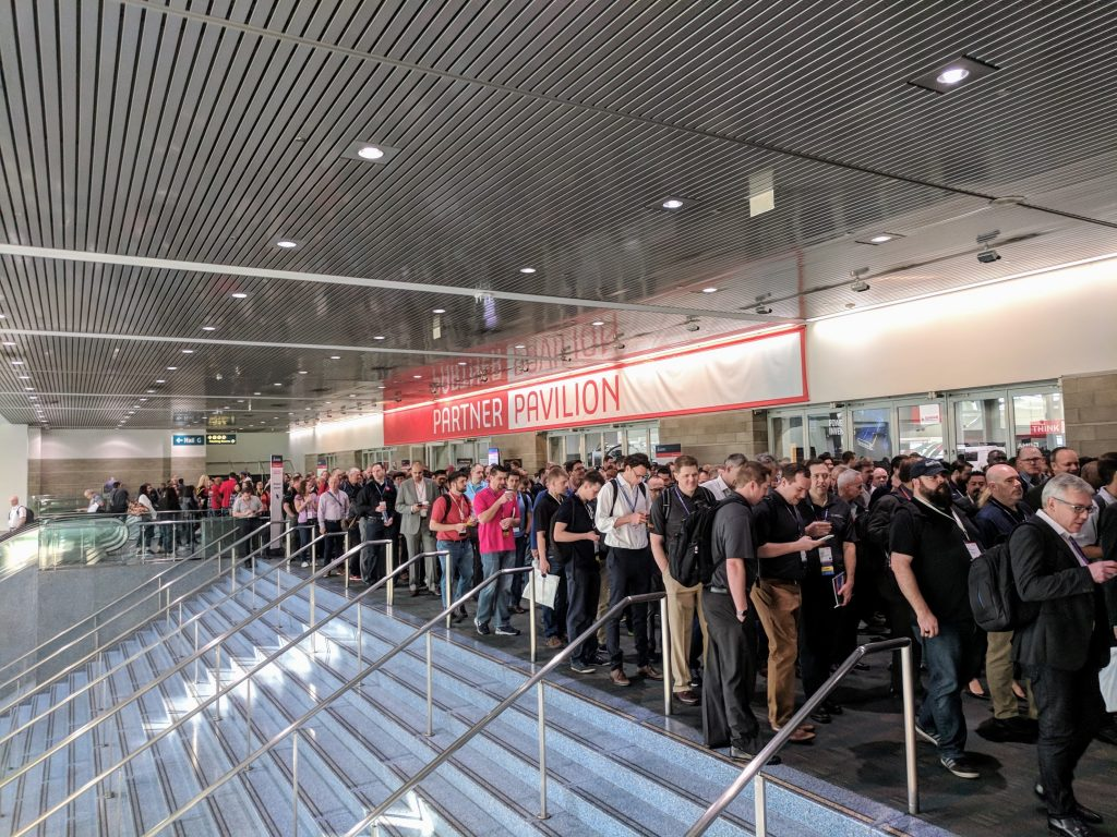 Crowds ready for SOLIDWORKS World 2018. Photo by Michael Petch.