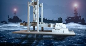 A 3D-printed aluminium replica of mooring chain testing bed at the DNV GL's lab in Bergen. Image via DNV GL.
