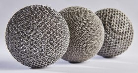 Metal 3D printed spheres from the MTC's National Centre for Additive Manufacturing. Photo via The MTC