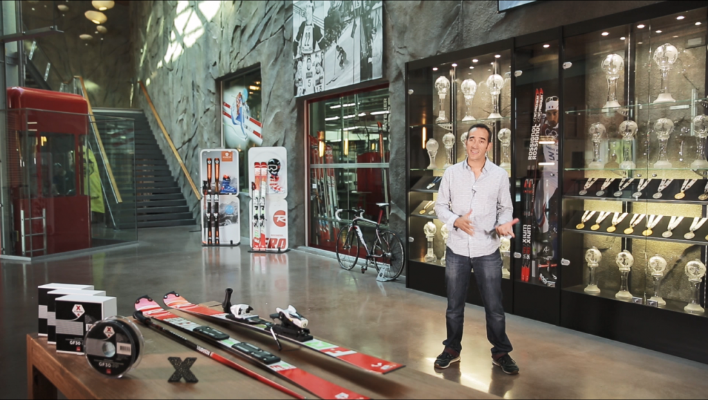 Nicolas Puget, Advanced Research Manager at Rossignol, explains the value of GF30-PP material to the company's product development. Image via Owens Corning