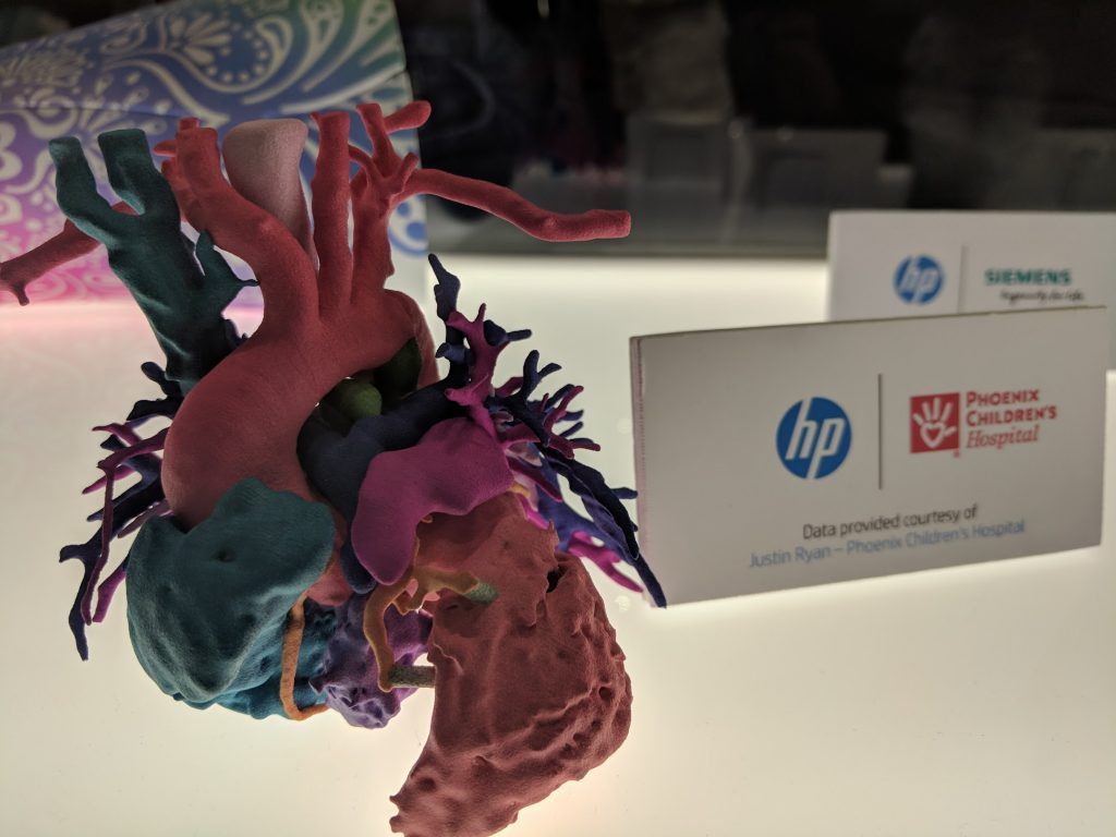 Full color 3D printing with HP. Photo by Michael Petch.
