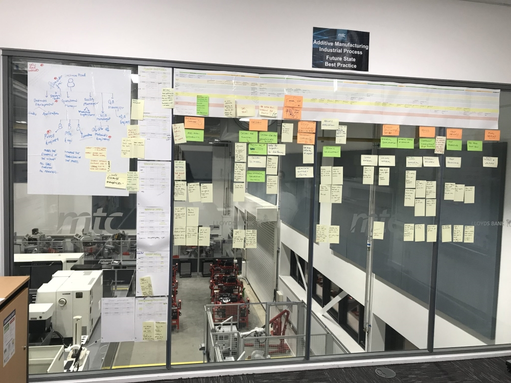 Dury's office is full of post-its, scribbled with notes on all the skills a candidate needs to be an engineer or technician in a certain role. Potential areas of focus cover Metrology, Material and Applications. Photo by Beau Jackson