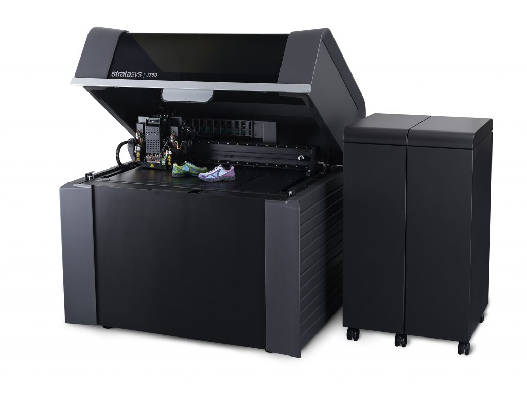 A J750 multimaterial 3D printer, as acquired by PostNord. Image via Stratasys