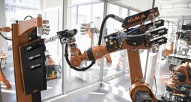 Inside the KUKA Development and Technology Center in Augsburg. Photo via KUKA