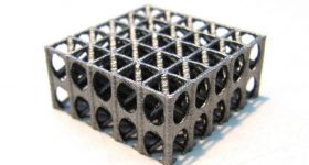 A sample lattice 3D printed at Sandvik Coromant. Photo via Sandvik Group