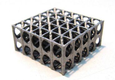 A sample lattice 3D printed at Sandvik Coromant. Photo via Sandvik Group