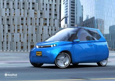 Concept graphic of the Noah electric car. Image via TU/Ecomotive