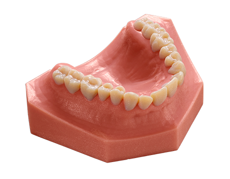 The Objet260 Dental can 3D print multiple materials simultaneously, including accurate models of the oral cavity. Photo via Stratasys.