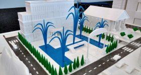 Part of the AON town project 3D printed and designed by SD3D.