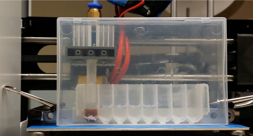 A plastic cartridge design that will be made 3D printable as part of the Omics in Space project. Photo via AI Biosciences.