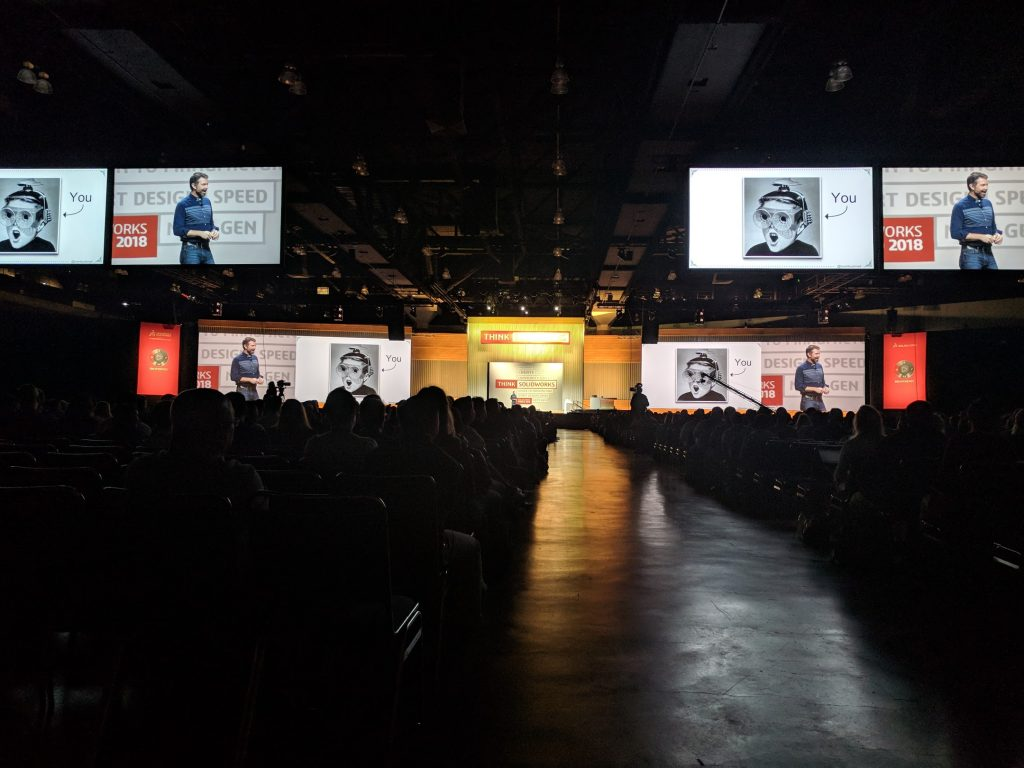 SOLIDWORKS World 2018. Photo by Michael Petch.