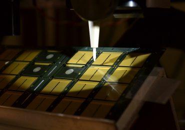Optomec stacked die electronics 3D printing. Photo via Optomec