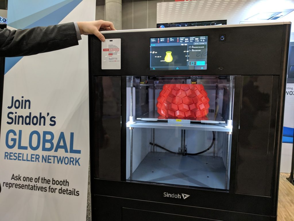 The forthcoming Sindoh 3D printer at SOLIDWORKS World. Photo by Michael Petch.