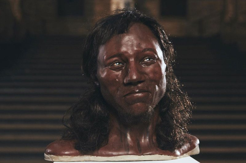 Reconstruction of the Cheddar Man by Alfons and Adrie Kennis. Photo via Channel 4