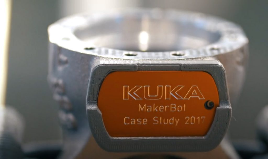 MakerBot earns Employee of the Year for applications at KUKA. Photo via MakerBot
